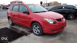 Smooth Driving Red Pontiac Vibe With Auto drive fabric Cold AC Alloy.