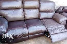 EX UK leather sofa