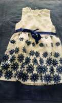 Blue and white kids dress