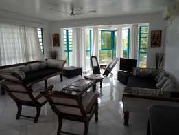 3 bedroom fully furnished beachside apartment for long term let.