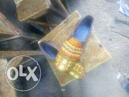 Ankara side elastic shoe