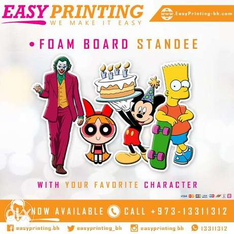 Character Standee Printing - with Free Delivery Service!