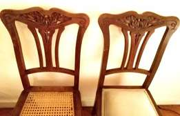 Pair of extremely elegant French art nouveau chairs.