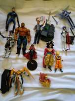 Action figures and mini statue collectible loose