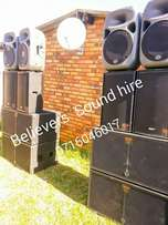 Professional Sound Hire for public events/fuctions; weddings; formal p