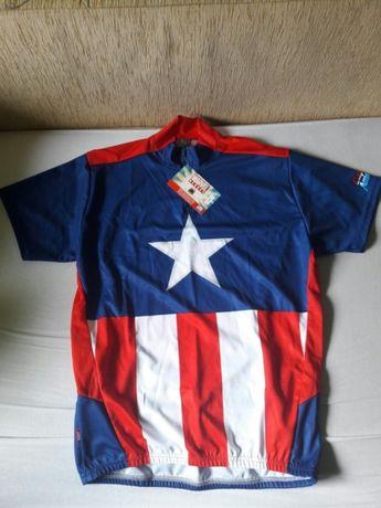 933cace93 Koszulka MARVEL Kapitan Ameryka r.M 12szt T-shirt sportowa oddychajaca  Józefów - image 1