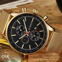 Gold chain wristwatch