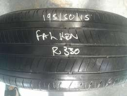 195/50/15 x 1 second hand tyre