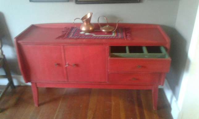 Red Retro sideboard Randfontein - image 2