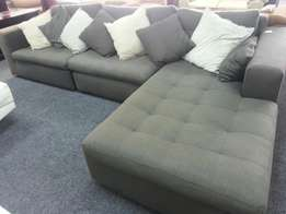 Corner material couch for sale