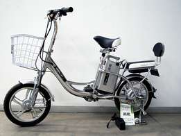 Grey electric hybrid bicycle EAB0003