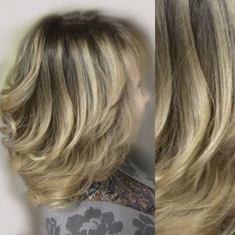 Покраска блондинок мелирование