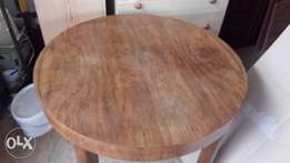 Dining folding table walnut round or oval 4322