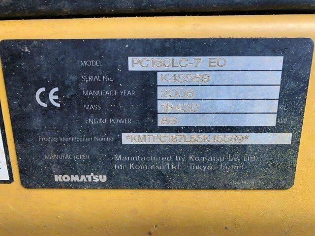 Komatsu PC 160 LC-7 EO Kettenbagger 16,4 Ton - 8.363 h - 2008 - image 8