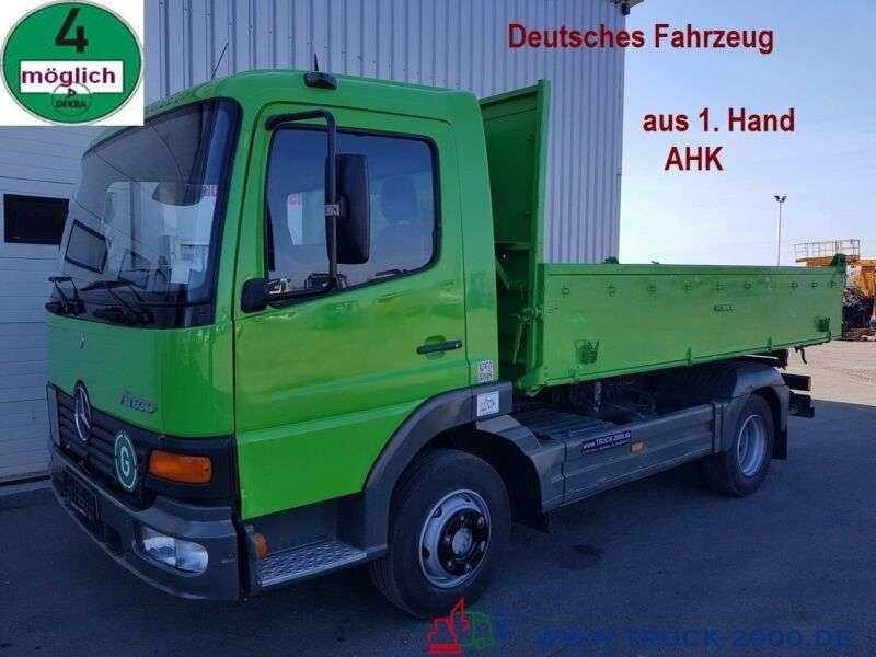 Mercedes-Benz 818 Atego Meiller 3 S. 1.hand Ahk Deutscher Lkw - 2003