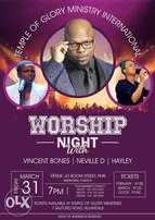 WORSHIP NIGHT with Neville D, Vincent Bones and Hayley