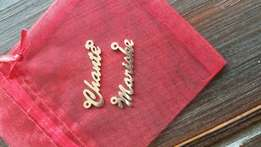 Custom sterling silver name necklaces