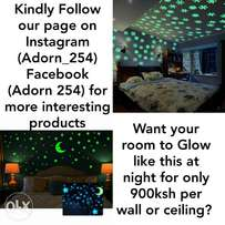 Glow in the Dark Decors, 900 ksh per wall.