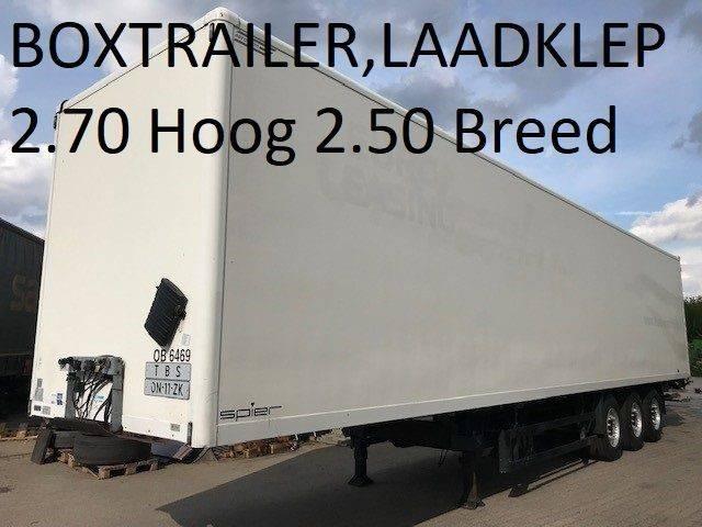 Spier Boxtrailer Met 2000 Kg Ondervouwklep , 2.70 Hoog - 2007