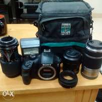 Sony Alpha 3000 Mirrorless Camera with 18-55mm Lens.