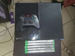 Xbox one with 5 games