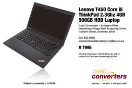 Lenovo T450 Core i5 ThinkPad 2.3Ghz 4GB 500GB HDD Laptop
