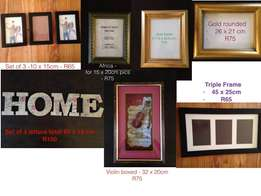 Assortment of Picture Frames to keep your memories safe