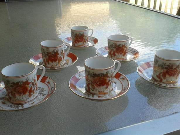 6 small Antique cups and saucers Hurlingham View - image 4