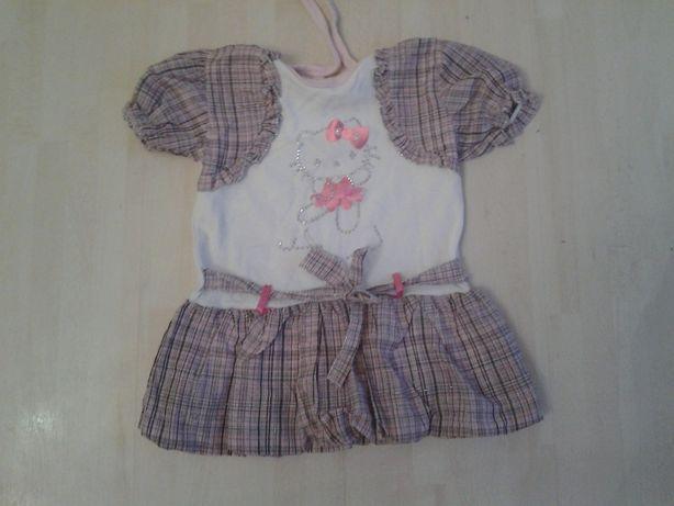 b8095b0338b Śliczna sukienka Hello Kitty, roz 2 lata jak nowa Łódź Widzew • OLX.pl