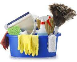 spring clean household and industrial cleaning material