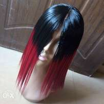 Omber red wig