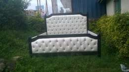 new 5/6 standard buttoned bed now at 19k