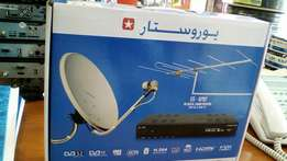 Satellite and terrestrial combo receivers