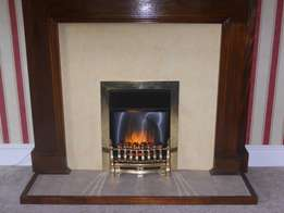 Hand Made, Solid Wood Fire Place