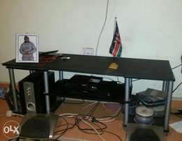 Quick Sale!! Executive TV stand with Sony Speakers