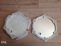 Brand new: 2 beautiful ornate French white mirrors from Wetherleys