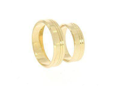 332b49d1c5ac68 Obrączki ślubne złote 585 płaskie Płońsk - image 1