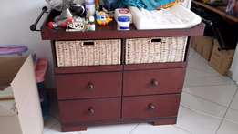 Baby Cot and Compactum Set for Sale