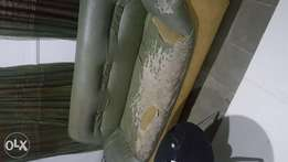 Used nigeria made chair. It is a single nd 3 seater. D leather is alre