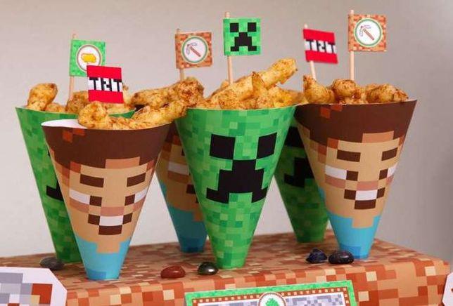 Minecraft Szablony Urodziny Baby Shower Słodki Stół Candy Bar