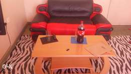 Leather coach 2seater and a coffee table