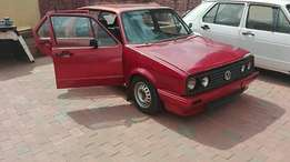 Howzit I have vw golf 1 1'8 carb with new ffz gear box . Car need some