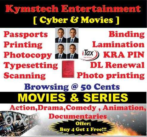 kymstech movie shop and cyber cafe attendant Pipeline - image 1