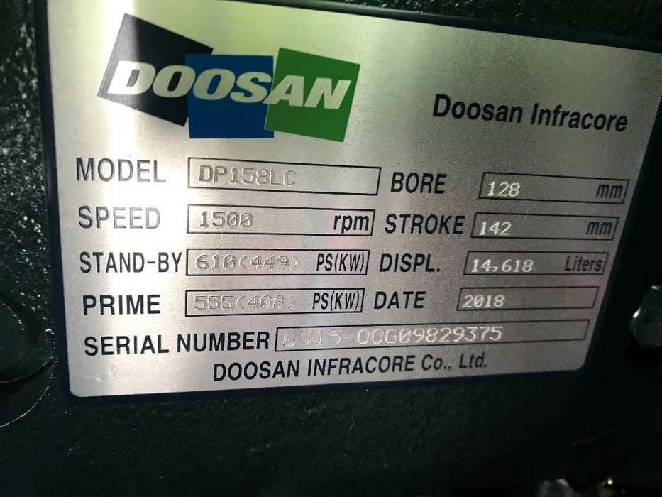 Doosan DP158LC - 510 kVA Generator - DPX-15555 - 2019 - image 11