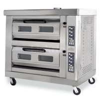 Two deck gas oven.