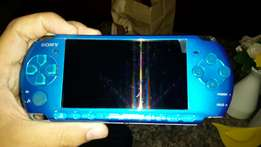 PSP portable playstation, limited edition blue