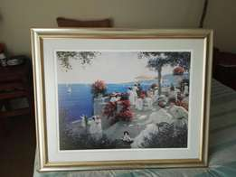 Art - C Kieffer Print framed under glass in excellent condition!