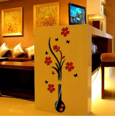 3D Art Flower Decal Vinyl Decor Removable wall sticker Nairobi CBD - image 2