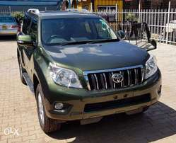 Toyota Prado 2010 Unique green colour with low mileage and sunroof