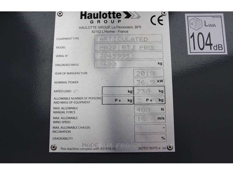 Haulotte HA20RTJPRO - 2018 - image 6